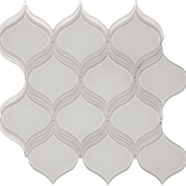 Element Mist Arabesque Glass Tile Mosaic