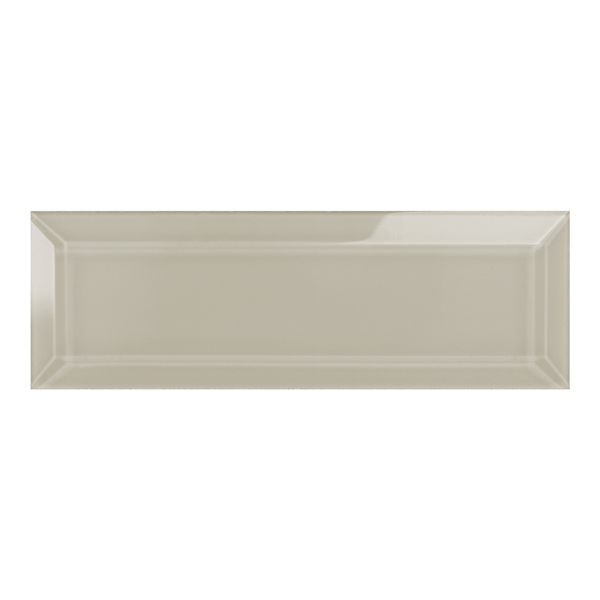 Element Earth Beveled Glass Subway Tile
