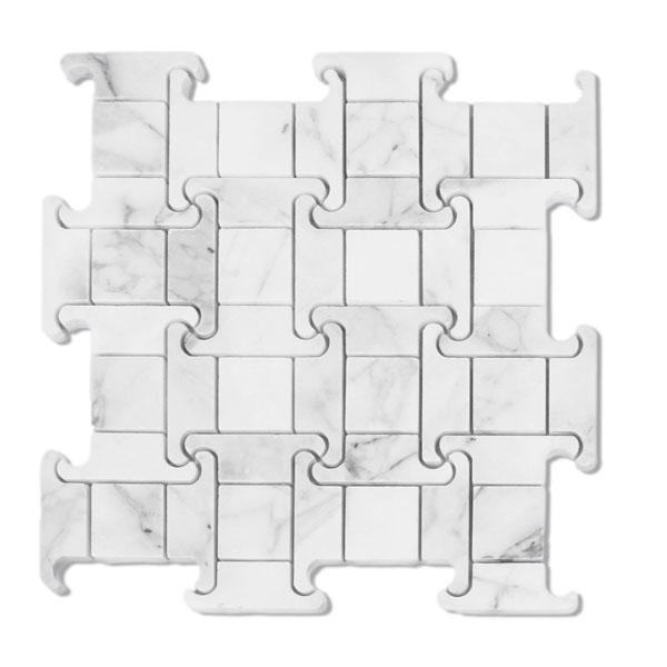 Bianco Cascia Acroplis Marble Mosaic