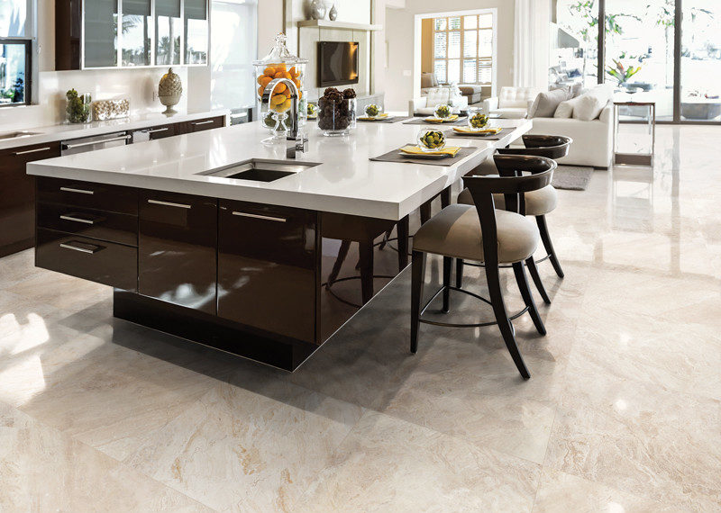 Impero Reale Marble Tile installed in a kitchen