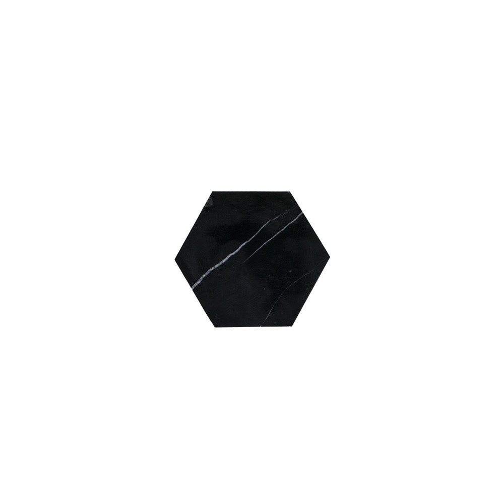 Jeffrey Court 6x6 Hexagon Nero Marquina Field Tile