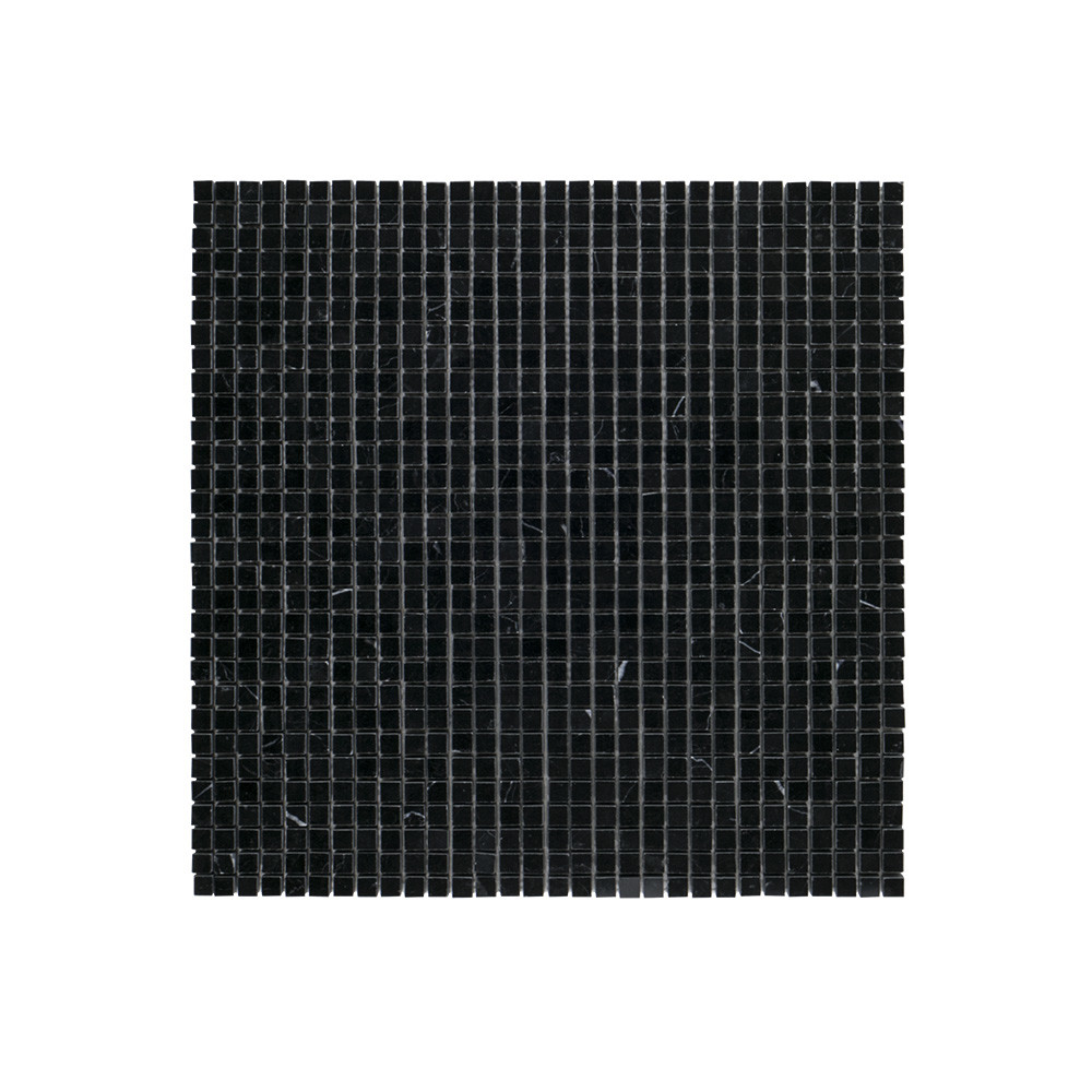 "Jeffrey Court 3/8"" Composition Mosaic Nero Marquina"