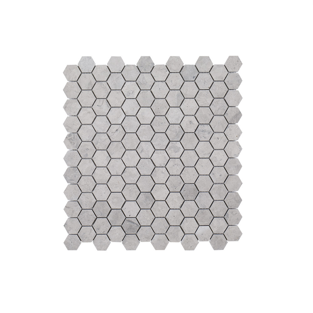 "Jeffrey Court 1"" Hexagon Mosaic - Tunisian Grey"