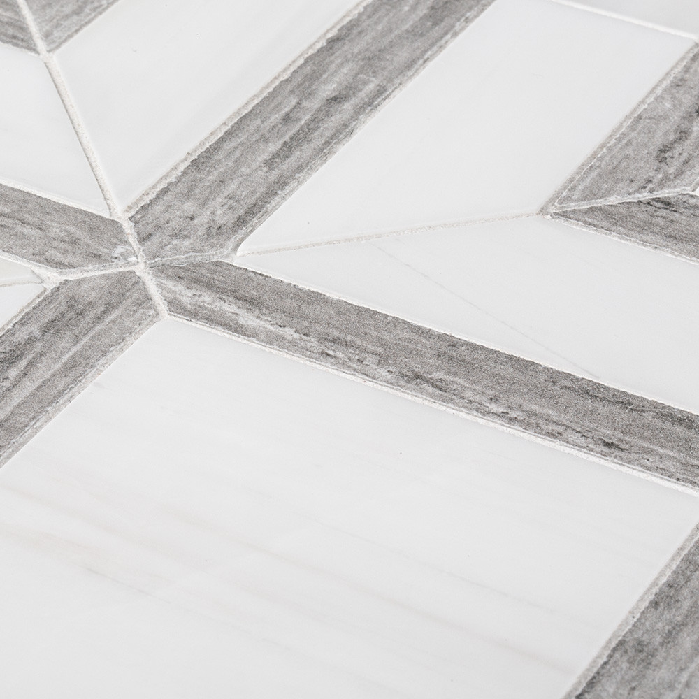 Jeffrey Court Hartford Mosaic Grey Tile Stone Source
