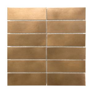 Satin Metal Bronze 2x6 Stacked Mosaic