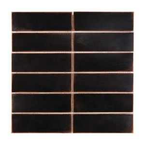 Satin Metal Oil Rubbed Bronze 2x6 Stacked Mosaic