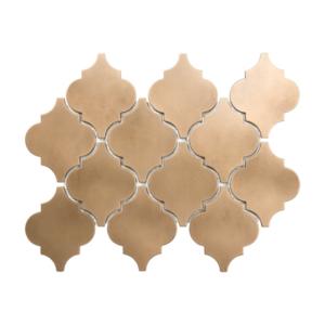 Satin Metal Bronze Arabesque Mosaic
