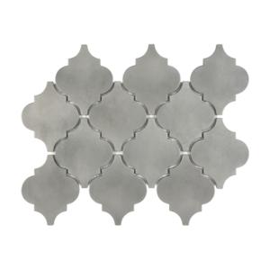 Satin Metal Pewter Arabesque Mosaic