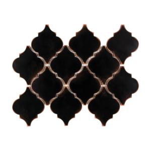 Satin Metal Oil Rubbed Bronze Arabesque Mosaic
