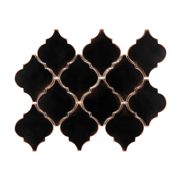 Satin Metal Oil Rubbed Bronze Arabesque Mosaic