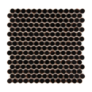 Satin Metal Oil Rubbed Bronze Penny Round Mosaic