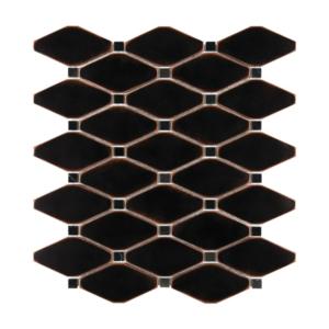 Satin Metal Oil Rubbed Bronze Clipped Diamond Mosaic