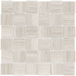 Mayfair Strada Ash 2x2 Basketweave Porcelain mosaic