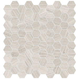 Mayfair Strada Ash Hexagon Porcelain Mosaic