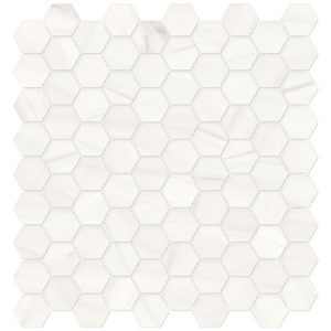 Mayfair Suave Bianco Porcelain Hexagon Mosaic