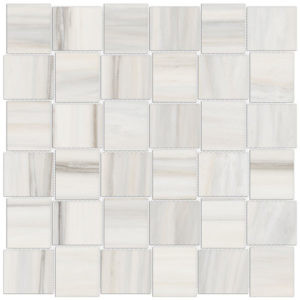Mayfair Zebrino 2x2 Basketweave Porcelain Mosaic