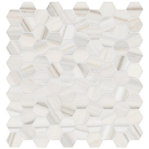 Mayfair Zebrino Hexagon Porcelain Mosaic