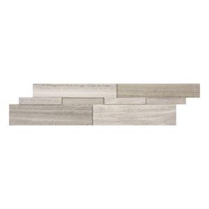 Marble Ledgestone Wooden White Cubic