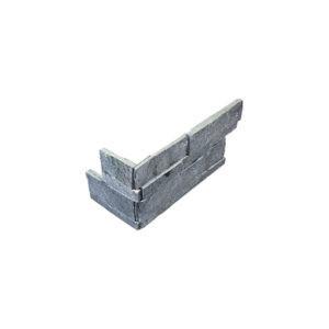 Astro Silver Quartzite Splitface Ledgestone Corner