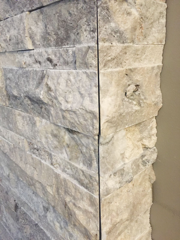 Silver Split Face Stone Sale Travertine Ledgestone