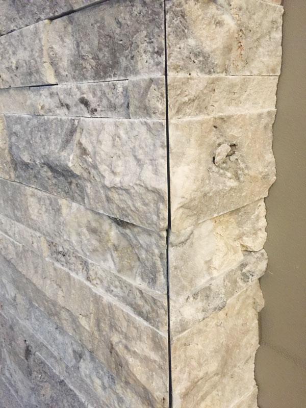 Silver Split Face Stone Sale Travertine Ledgestone