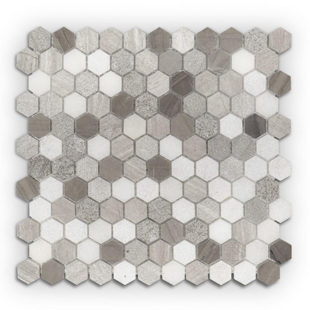 Jeffrey Court 1 Quot Hexagon Pattern Mosaic Color Blend