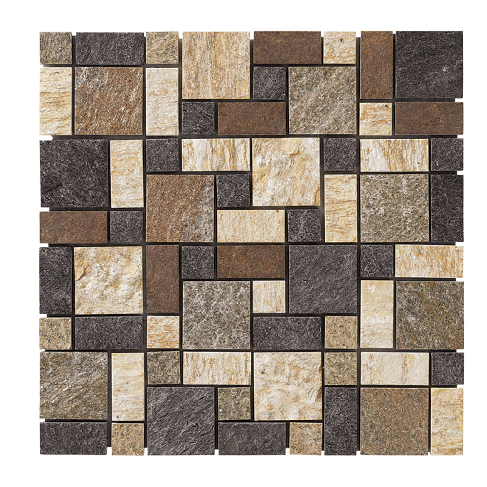 Sienna Slate Stone : Jeffrey court rustic sienna quartz sale tile stone