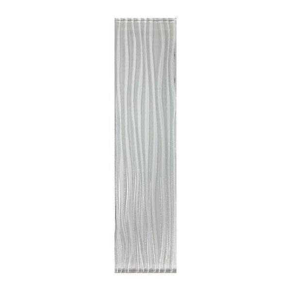 Glamour Crystal White 3x12 Glass Tile