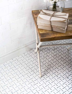 Jeffrey Court Nob Hill Tiles installed on floor and wall